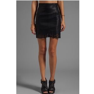 Minkpink Naughty and nice faux leather skirt
